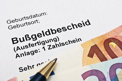Bußgeldbescheid (© Stockfotos-MG / Fotolia.com)