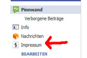 Facebook-Fanseiten: Kostenlose Impressum-Anwendung