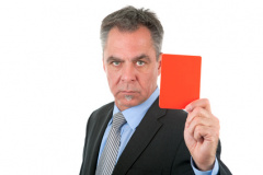 Rote Karte für Dienstvergehen (© Janina Dierks - Fotolia.com)