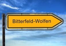 Straßenschild Bitterfeld-Wolfen (© Thomas Reimer - Fotolia.com)