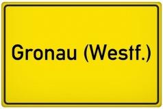 Ortseingangsschild der Stadt Gronau (Westf.) (© Tom-Hanisch - Fotolia.com)