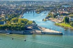 Blick auf das Deutsche Eck in Koblenz (© pure-life-pictures - Fotolia.com)