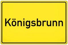 Ortsschild Königsbrunnen (© qualitystock - Fotolia.com)