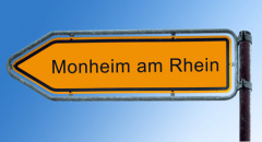 Straßenschild Monheim am Rhein (© Thomas Reimer - Fotolia.com)